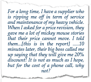 cost reduction training testimonial