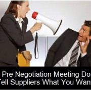 Negotiation Meeting with Suppliers